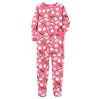 Girls 4-14 Carter's Patterned Fleece Footed Pajamas