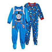 Toddler Boy Thomas the Tank Engine Fleece One-Piece Footed Pajama Set