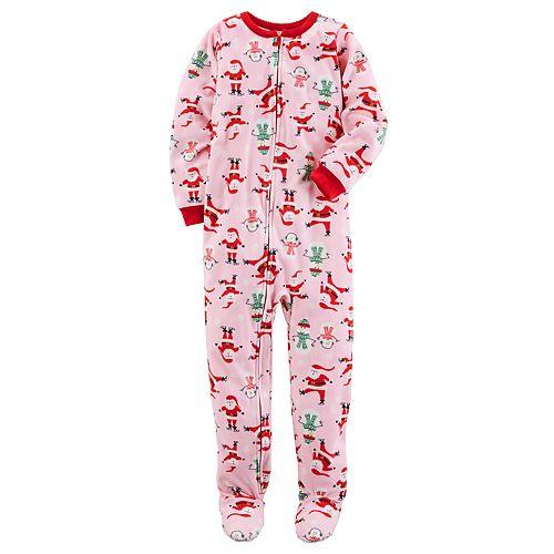 d61edbfe9fb8 Girls 4-14 Carter s Christmas Footed Pajamas