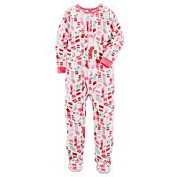 Girls 4-14 Carter's Christmas Footed Pajamas