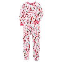 Girls 4-14 Carter's Christmas Footed Pajamas
