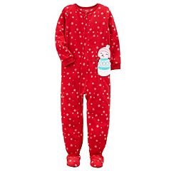Girls 4-14 Carter's Christmas One-Piece Microfleece Pajamas