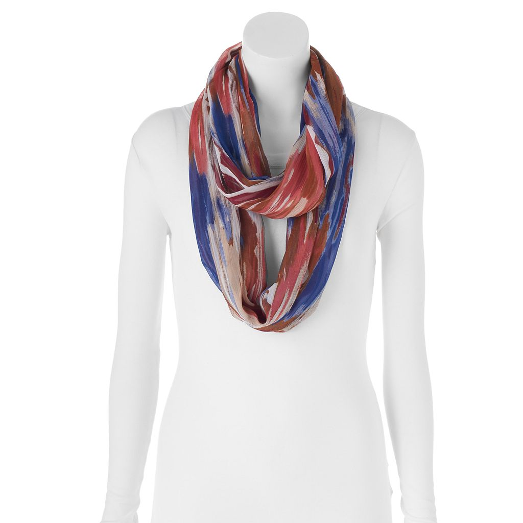 Apt. 9® Watercolor Striped Infinity Scarf