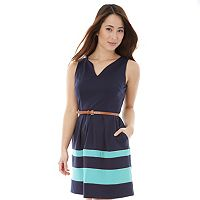 Juniors' IZ Byer Striped Ponte Dress