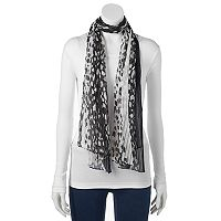 Apt. 9® Pleated Leopard-Print Wrap Scarf