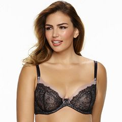 Paramour by Felina Bra: Amber Sheer Lace Unlined Full-Figure Bra 115014