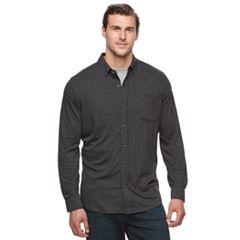 Big & Tall Croft & Barrow® True Comfort Classic-Fit Knit Button-Down Shirt