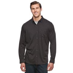 Big & Tall Croft & Barrow® True Comfort Classic-Fit Knit Button-Down Shirt
