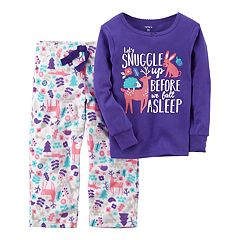 Girls 4-14 Carter's Graphic Top & Print Fleece Pants Pajama Set