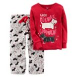 Girls 4-14 Carter's Graphic Top & Print Fleece Pants Pajama Set