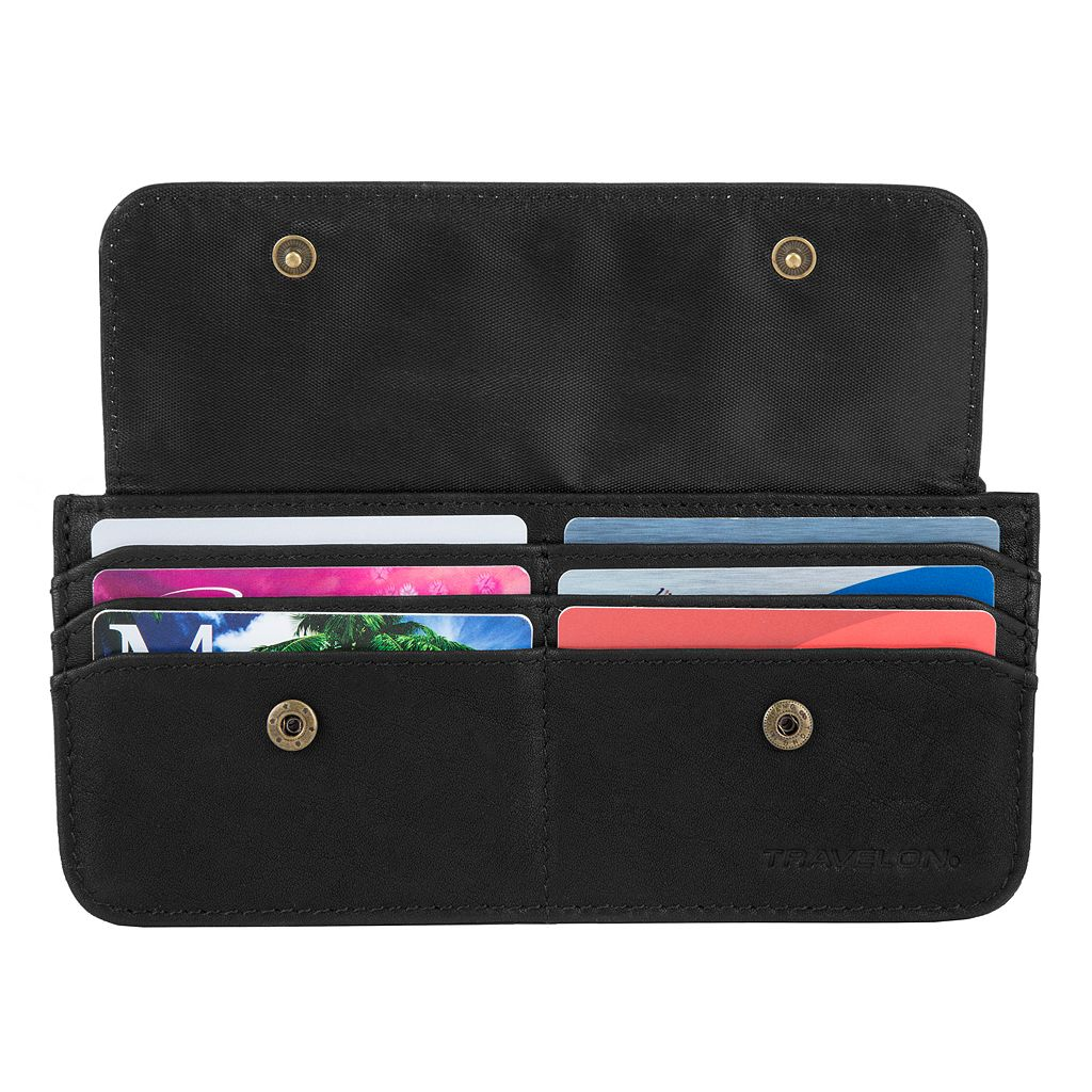 Travelon RFID-Blocking Slim Leather Wallet