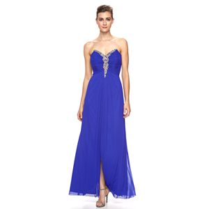 Women's 1 by 8 Embellished Strapless Gown