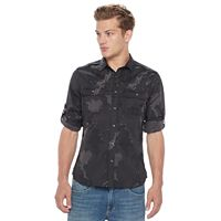 Big & Tall Rock & Republic Classic-Fit Stretch Roll-Tab Button-Down Shirt