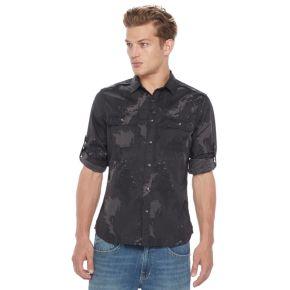 Big & Tall Rock & Republic Classic-Fit Stretch Roll-Tab Button-Down Shirt