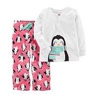 Girls 4-14 Carter's Friendly Animal Applique Top & Patterned Bottoms Pajama Set