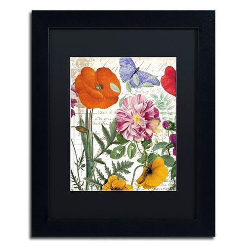 Trademark Fine Art Printemps Floral Framed Wall Art