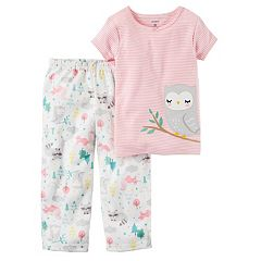 Girls 4-14 Carter's Owl Applique Tee & Patterned Bottoms Pajama Set