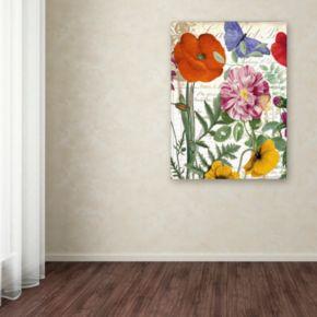 Trademark Fine Art Printemps Floral Canvas Wall Art
