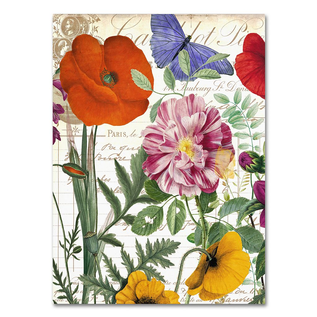 Trademark Fine Art Printemps Floral Canvas Wall Art