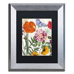 Trademark Fine Art Printemps Silver Finish Framed Wall Art