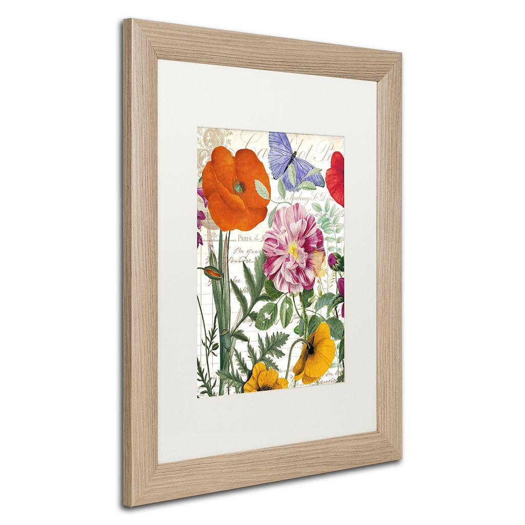 Trademark Fine Art Printemps Distressed Framed Wall Art