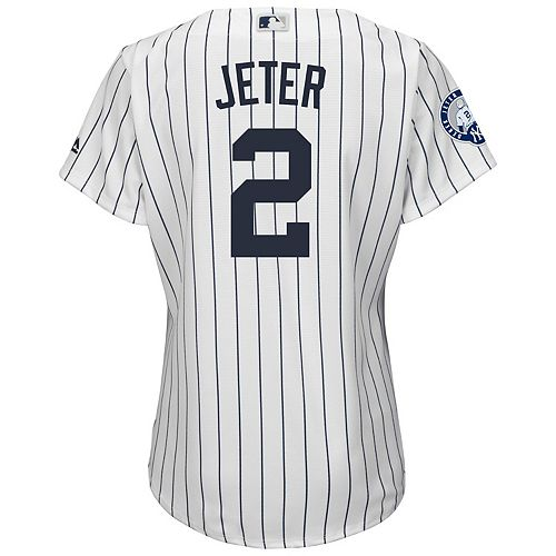 meet fa53c 78d6b Plus Size Majestic New York Yankees Derek Jeter Replica ...