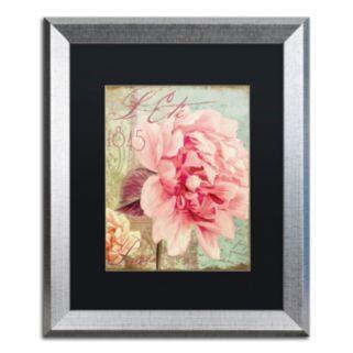"""Trademark Fine Art Saisons III """"Paris"""" Silver Finish Framed Wall Art"""