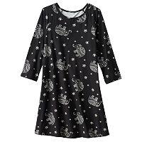 Girls 7-16 Mudd® 3/4-Length Sleeve Patterned Swing Dress