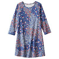 Girls 7-16 Mudd® 3/4-Length Sleeve Patterned Swing Dress