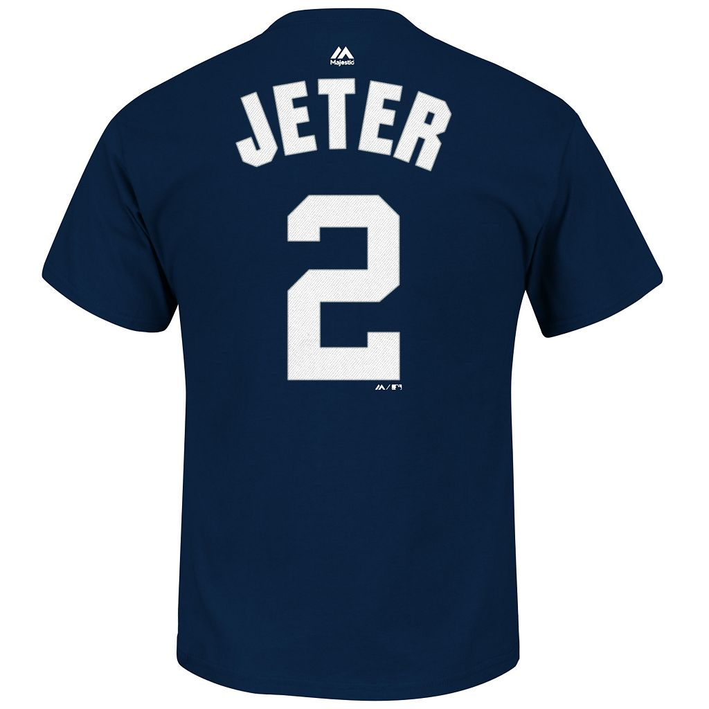 Big & Tall Majestic New York Yankees Derek Jeter Name & Number Tee