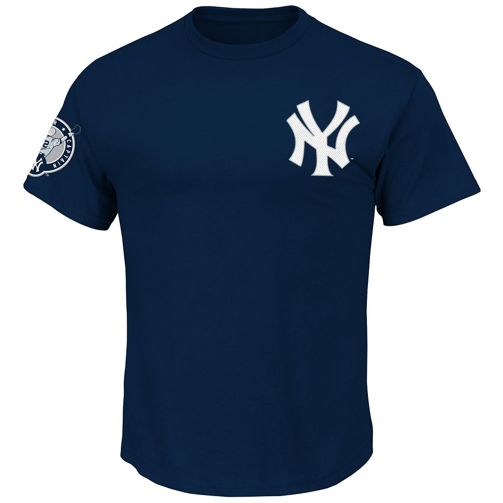 Big & Tall Majestic New York Yankees Derek Jeter Name & Number Tee