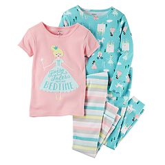 Girls 4-14 Carter's 'Fairy Tales Before Bedtime' Tees & Bottoms Pajama Set