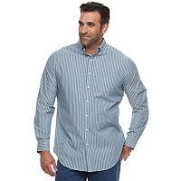 Big & Tall Croft & Barrow® Classic-Fit Stretch Woven Button-Down Shirt