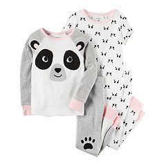 Girls 4-14 Carter's Panda Tops & Bottoms Pajama Set