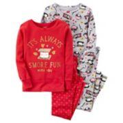 Girls 4-14 Carter's 4-pc. Sweet Treat Tops & Bottoms Pajama Set