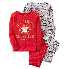 Girls 4-14 Carter's 4-pc. Sweet Treat Tops & Bottoms Pajama Set
