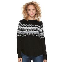 Juniors' SO® Fair Isle Long Sleeve Sweater