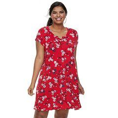 Juniors' Plus Size SO® Lace-Up Swing Dress
