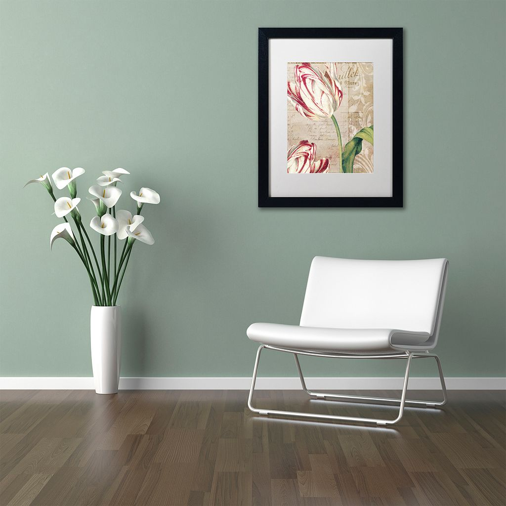 Trademark Fine Art Tulips Black Framed Wall Art