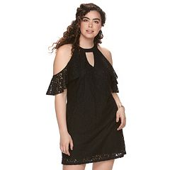 Juniors' Plus Candie's® Flutter Halter Dress
