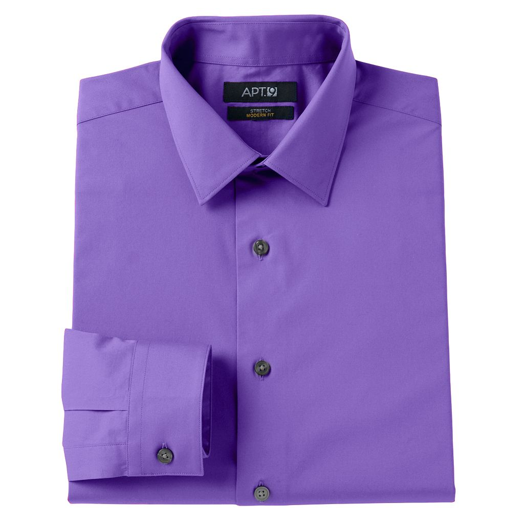 Men's Apt. 9® Modern-Fit Stretch Spread-Collar Dress Shirt