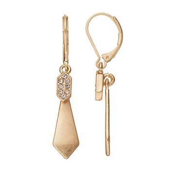 Simply Vera Vera Wang Inverted Kite Nickel Free Drop Earrings