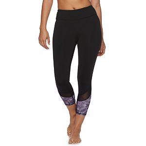 Women's Gaiam Om Mesh Capri Yoga Leggings