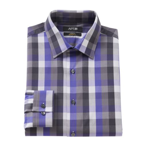 Men's Apt. 9® Modern-Fit Patterned Stretch Dress Shirt
