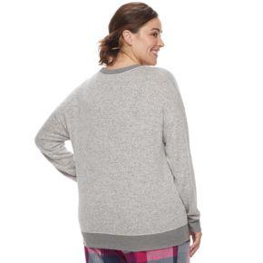 Plus Size SONOMA Goods for Life™ Pajamas: Nordic Nights Long Sleeve Sweatshirt