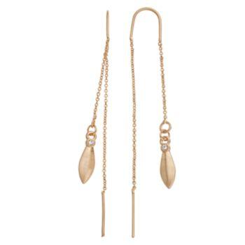 Simply Vera Vera Wang Marquise Nickel Free Threader Earrings