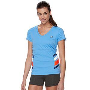 Women's FILA SPORT® Striped V-Neck Tee