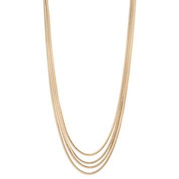 Simply Vera Vera Wang Long Herringbone Chain Multi Strand Necklace