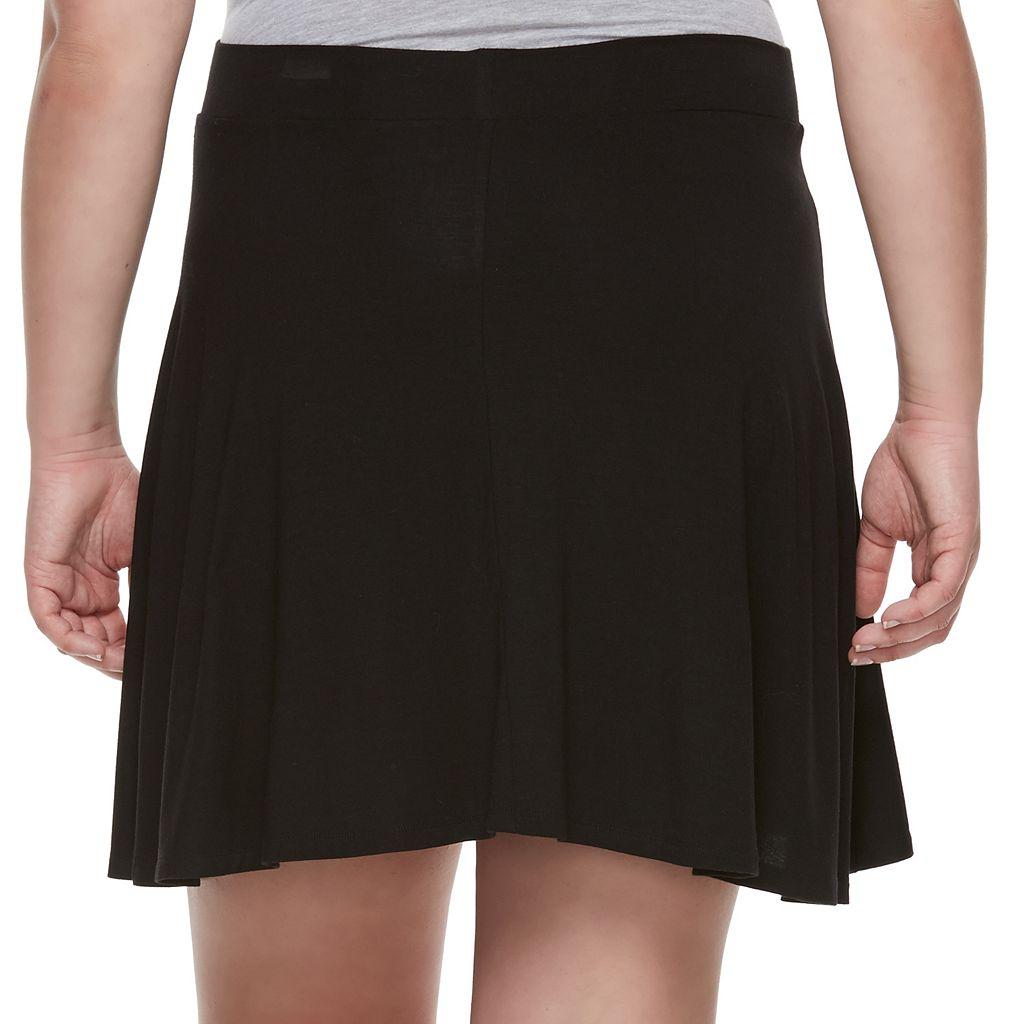 Juniors' Plus Size SO® Skater Skirt