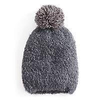 Women's Cuddl Duds Knit Pom Pom Beanie